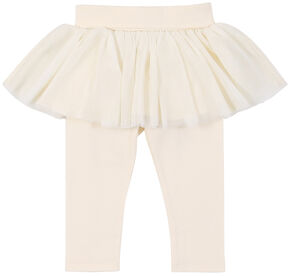 Wrangler Infant Girls' White Leggings with Tulle Skirt, White, hi-res