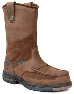 Georgia Athens Waterproof Wellington Work Boots - Round Toe, , hi-res