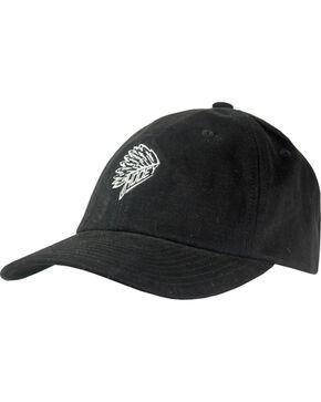 Hooey Men's Quanah Low Adjustable Baseball Cap , Black, hi-res