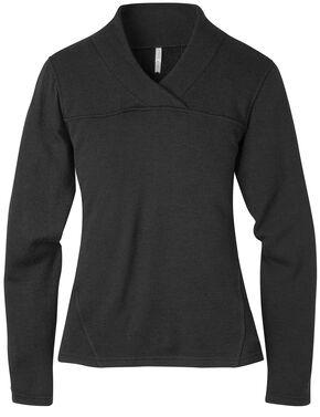 Mountain Khakis Women's Rendezvous Micro Wrap Neck Shirt, Black, hi-res