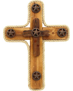 Western Moments Star Wooden Wall Cross, , hi-res