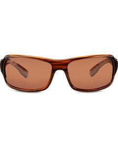 Hobie Men's Copper Shiny Wood Grain Polarized Malibu Sunglasses , , hi-res