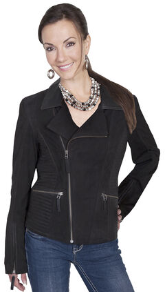Scully Leatherwear Suede Cross Motorcycle Jacket, , hi-res