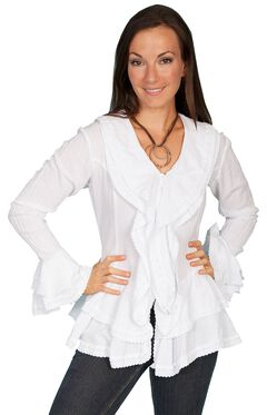 Scully Ruffle Front Long Sleeve Top, , hi-res