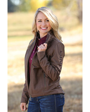 Cinch Women's Brown Bonded Concealed Carry Jacket , Brown, hi-res
