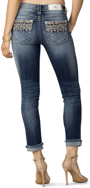 Miss Me Women's Indigo Narrow Escape Ankle Jeans - Plus Size, Indigo, hi-res