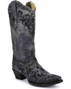 Corral Women's Stingray Inlay Cowgirl Boots - Snip Toe, , hi-res
