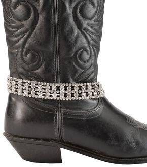 Rhinestone Chain Boot Bracelet, Silver, hi-res