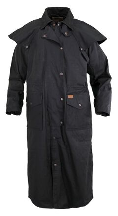 Outback Trading Co. Stockman Oilskin Duster, Black, hi-res