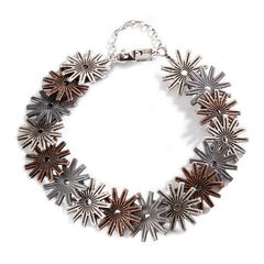 Montana Silversmiths Tri-Color Rowel Bracelet, , hi-res