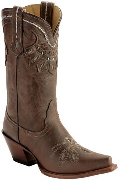 Tony Lama Vaquero Rancho Inlay Cowgirl Boots - Snip Toe, , hi-res