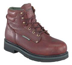 "Florsheim Men's Utility Steel Toe 6"" Work Boots, , hi-res"
