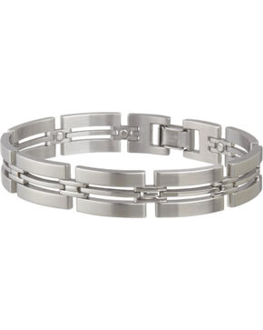 Sabona Men's Imperial Stainless Magnetic Bracelet, Steel, hi-res
