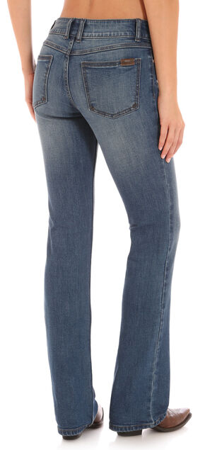 Wrangler Retro Women's Indigo Clean Pocket Mae Jeans - Boot Cut , Indigo, hi-res