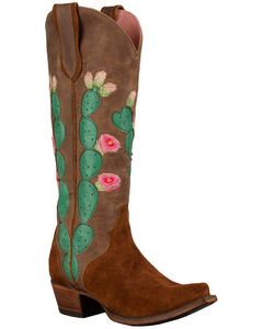 Lane Women's Brown Junk Gypsy Hard to Handle Western Boots - Snip Toe , , hi-res