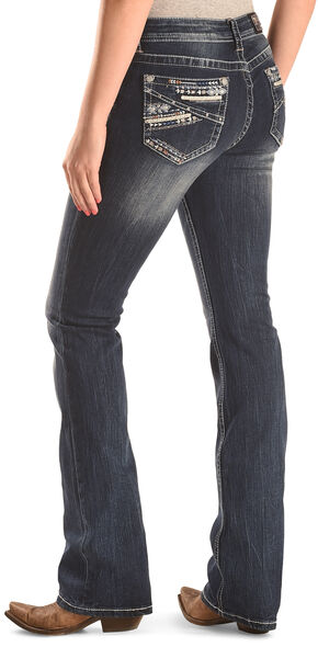 Grace in LA Women's Easy Fit Abstract Bootcut Jeans , Indigo, hi-res