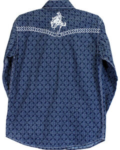 Cowboy Hardware Boys' Town Square Bucking Bronc Long Sleeve Print Shirt, , hi-res