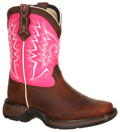 Lil' Durango Girls' Let Love Fly Western Boots - Square Toe, , hi-res