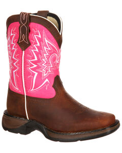 Lil' Durango Toddler Girls' Let Love Fly Western Boots - Square Toe, , hi-res
