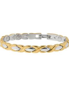 Sabona Women's Executive Dress Gold Duet Bracelet, , hi-res