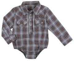 Wrangler Infant Boys Long Sleeve 2 Pocket Plaid Bodysuit, , hi-res