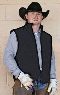 STS Ranchwear Men's Ewing Reversible Grey Vest - Big & Tall - 4XL, , hi-res