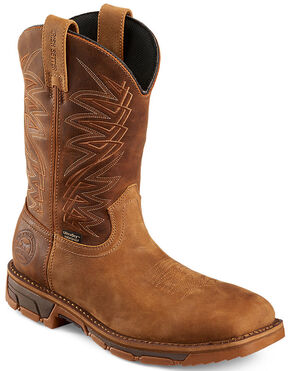 Red Wing Irish Setter Men's Marshall Work Boots - Soft Square Toe , Brown, hi-res
