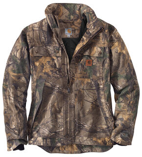 Carhartt Men's Quick Duck Camo Traditional Jacket, Camouflage, hi-res