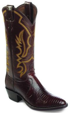 Justin Iguana Lizard Cowboy Boots - Round Toe, , hi-res