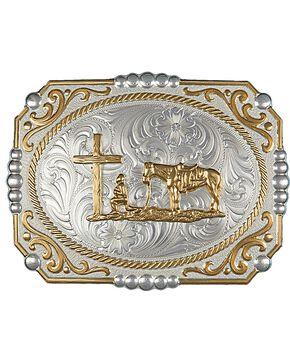 Montana Silversmiths Cameo Christian Cowboy Buckle, Silver, hi-res