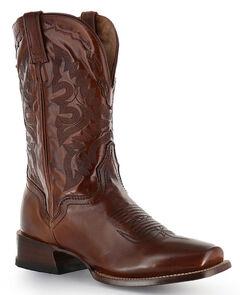 El Dorado Tan Vanquished Calf Cowboy Boots - Square Toe, , hi-res