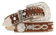 Nocona Hair-on-Hide Embellished Belt, , hi-res