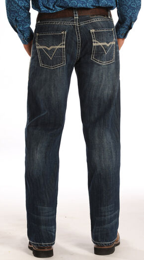 "Rock and Roll Cowboy Tuf Cooper Competition Fit ""V"" Pocket Jeans, Denim, hi-res"