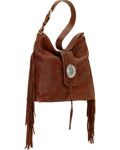 American West Seminole Collection Soft Shoulder Hobo Bag, , hi-res