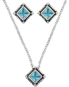 Montana Silversmiths Roped Blue Starlight Jewelry Set, , hi-res