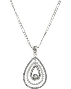 Montana Silversmiths Women's Hidden Treasure Raindrop Necklace, , hi-res
