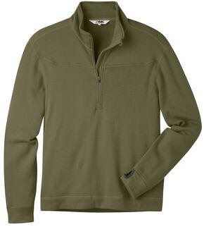 Mountain Khakis Men's Rendezvous Micro Quarter-Zip Shirt, Olive, hi-res