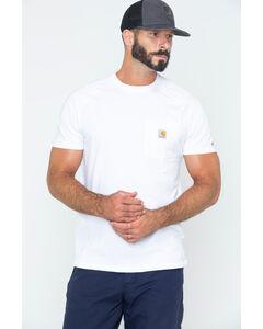 Carhartt Men's Force Cotton White Short Sleeve Shirt - Big & Tall, , hi-res