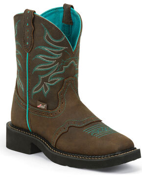 Justin Gypsy Chocolate Mandra Cowgirl Boots - Square Toe, Chocolate, hi-res