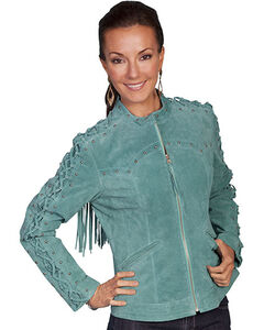 Scully Lace Up Sleeve Leather Jacket, , hi-res