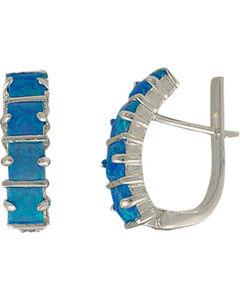 Montana Silversmiths Women's Multi Square Opal Bars Earrings, , hi-res