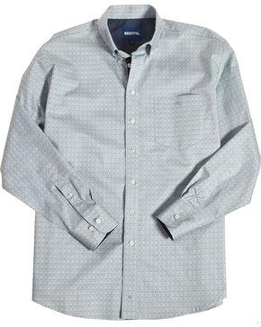 Resistol Men's Light Blue Edison Geo Button Shirt , Light Blue, hi-res