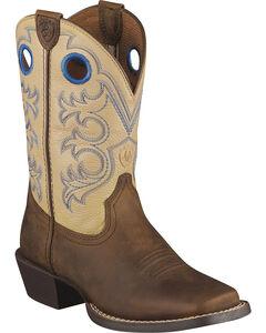 Ariat Children's Crossfire Cowboy Boots - Square Toe, , hi-res
