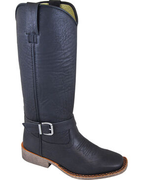 Smoky Mountain Buttercup Black Tall Riding Boots - Square Toe, Black, hi-res