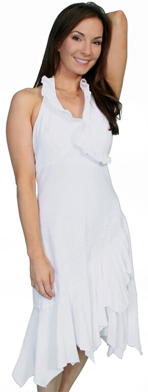 Scully Peruvian Cotton Halter Dress, White, hi-res