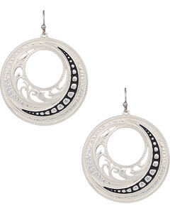 Montana Silversmiths Woman's Western Lace Winding Earrings , , hi-res