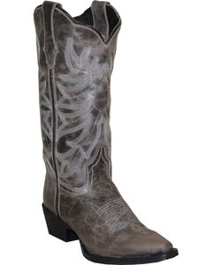 Rawhide by Abilene Boots Women's Scalloped Western Boots - Snip Toe, , hi-res