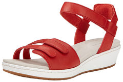 Ariat Women's Red Leisure Time Ankle Strap Sandals , , hi-res