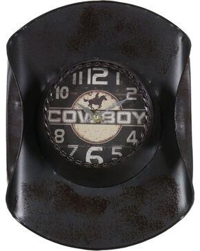 Gift Craft Metal Cowboy Hat Wall Clock, No Color, hi-res