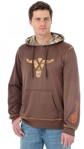 Wrangler 20X Brown Performance Drawstring Hoodie, Brown, hi-res